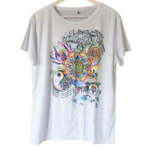 Namaste graphic print athletic t-shirt